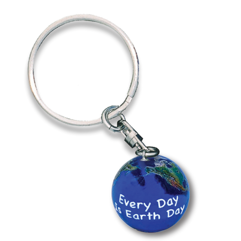 "1"" Natural Earth Day Keychain"