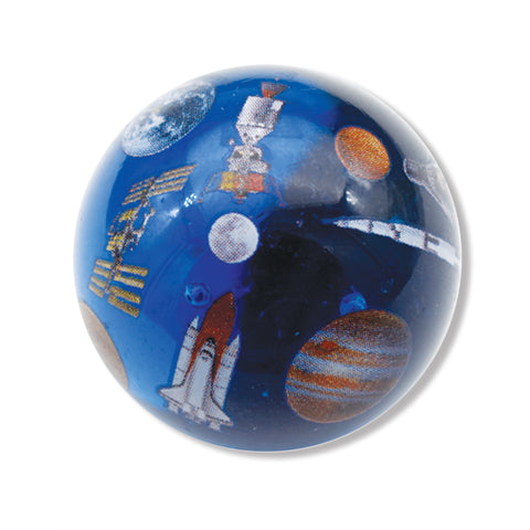"1.4"" Solar System Marble with 9 Space Ships"