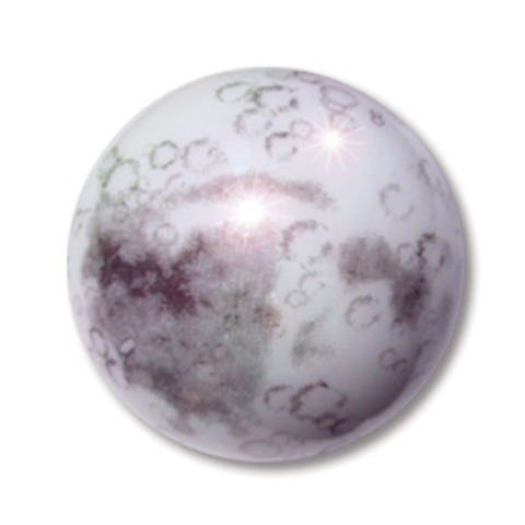 "1"" Moon Marble - 5 in a Pouch"