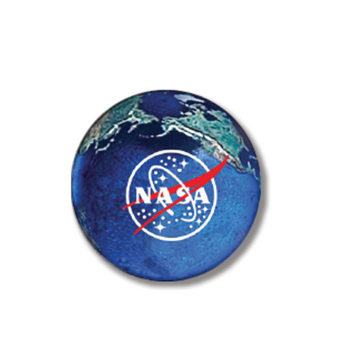 Earth Marble with NASA Meatball Logo - 5 in a Pouch