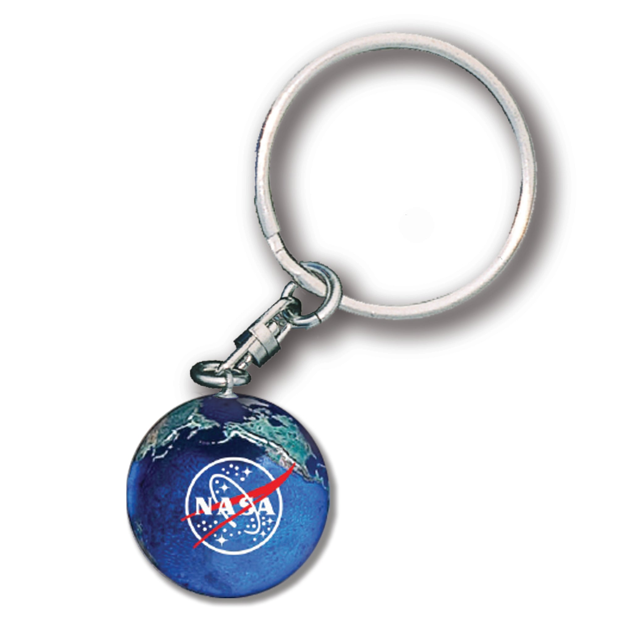 Earth Keychain with NASA Meatball Logo