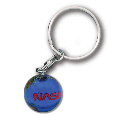 Earth Keychain with NASA Worm Logo