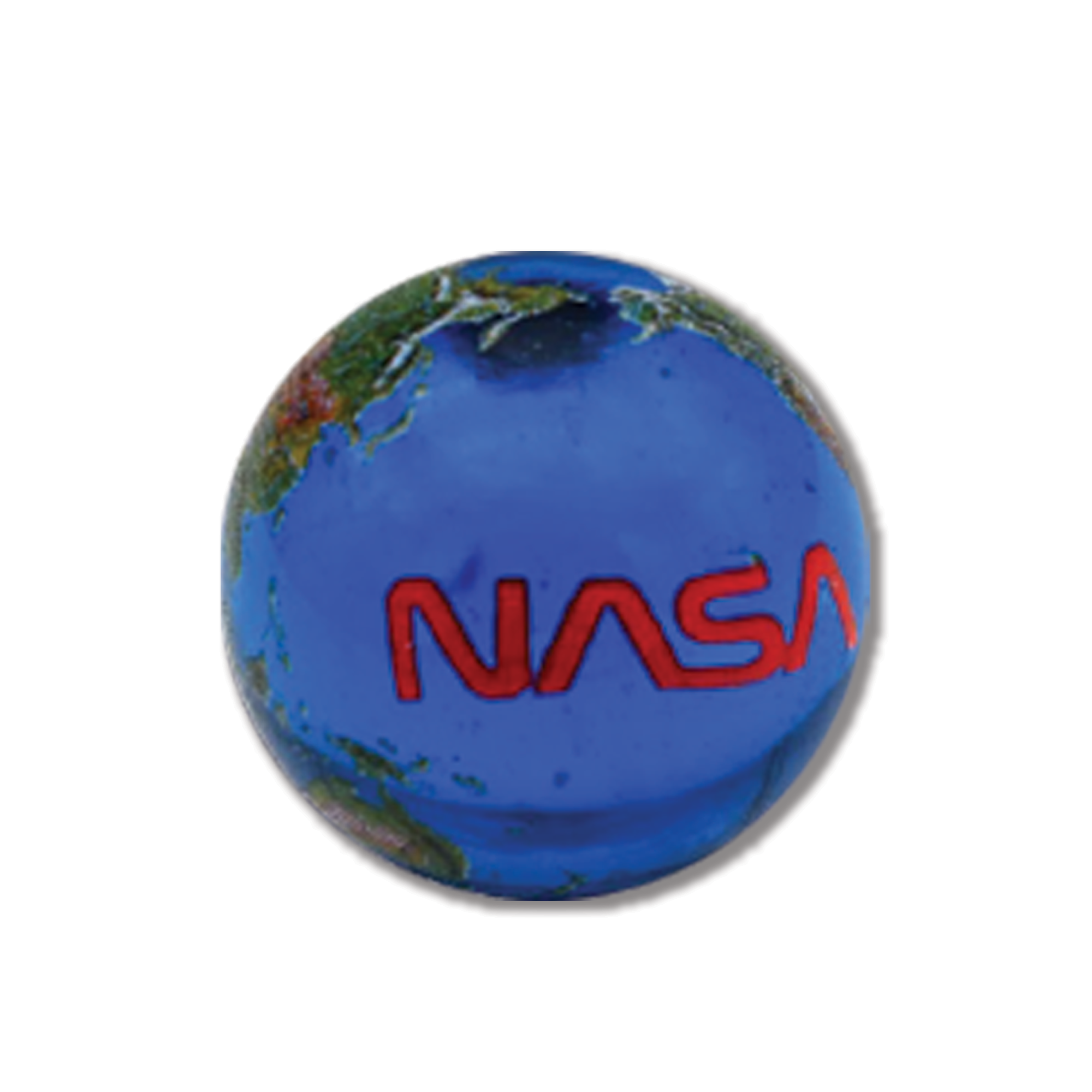 Earth Marble with NASA Worm Logo - 5 in a Pouch