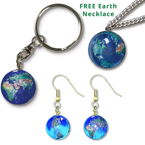 Planet Earth Art Collection + FREE Necklace