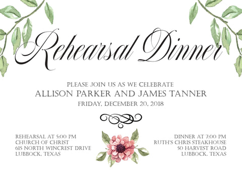 Formal Invitation Design