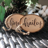 Wood (Rustic-themed) Name Tag Place Cards
