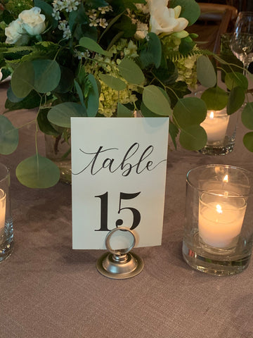 Kara Calligraphy Table Numbers