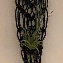 Load image into Gallery viewer, Macrame Black Brick White Plant Holder | Grace Andersen Designs