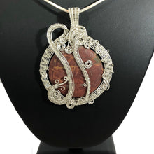 Load image into Gallery viewer, Red Jasper Wire Wrapped Sterling Silver Necklace | Grace Andersen Designs