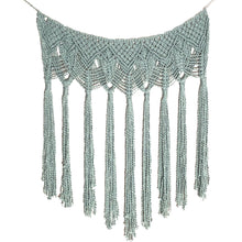 Load image into Gallery viewer, Macrame Wall Hanging Garland Swag Blue | Grace Andersen Designs