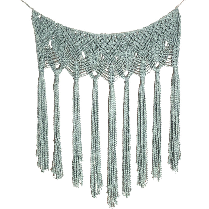 Macrame Wall Hanging Garland Swag Blue | Grace Andersen Designs