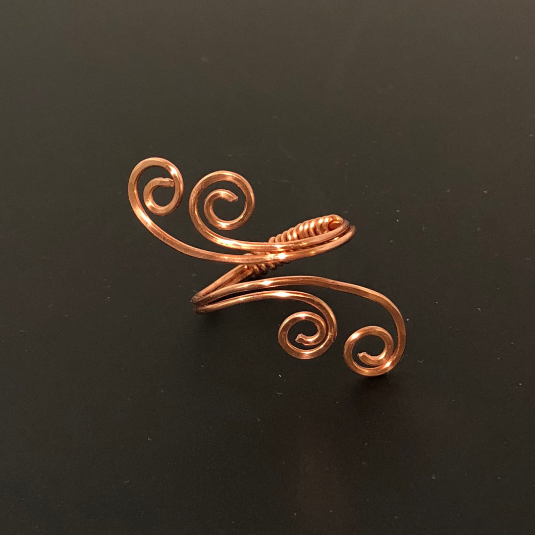 Copper Swirly Ring | Grace Andersen Designs