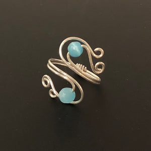 Sterling Silver Blue Ring | Grace Andersen Designs