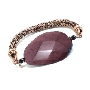 Rope Mookaite Wire Wrapped Copper Bracelet | Grace Andersen Designs