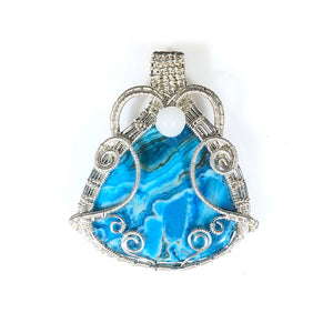 Crazy Lace sterling Silver Pendant | Grace Andersen Designs