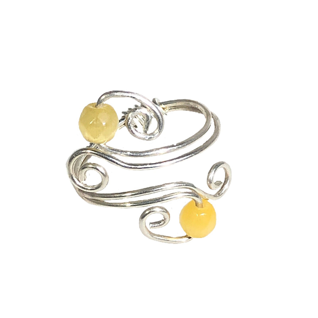 Sterling Silver Yellow Adjustable Ring | Grace Andersen Designs