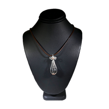Load image into Gallery viewer, Essential Oil Diffuser Sterling Silver Copper Wire Wrapped Necklace | Grace Andersen Designs