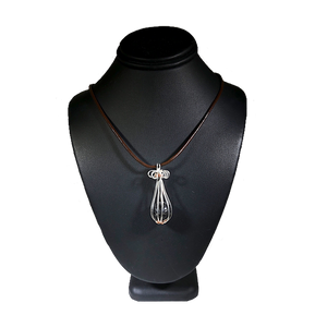 Essential Oil Diffuser Sterling Silver Copper Wire Wrapped Necklace | Grace Andersen Designs
