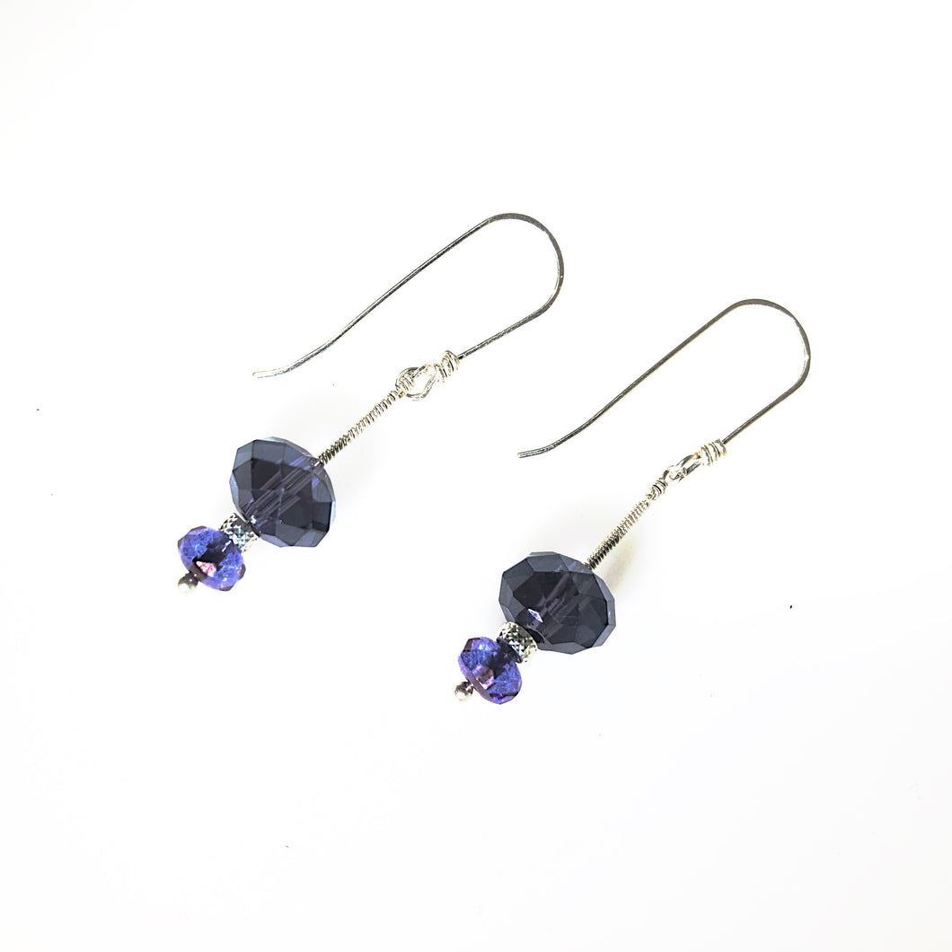 Purple Sterling Silver Earrings | Grace Andersen Designs