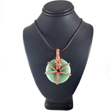 Load image into Gallery viewer, Green Aventurine Donut Wire Wrapped Copper Necklace | Grace Andersen Designs