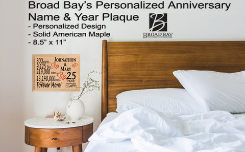 25 Year Anniversary Gift For Husband Wife Or Couple