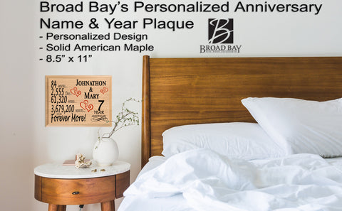 7 Year Anniversary Gift For Husband Wife Or Couple