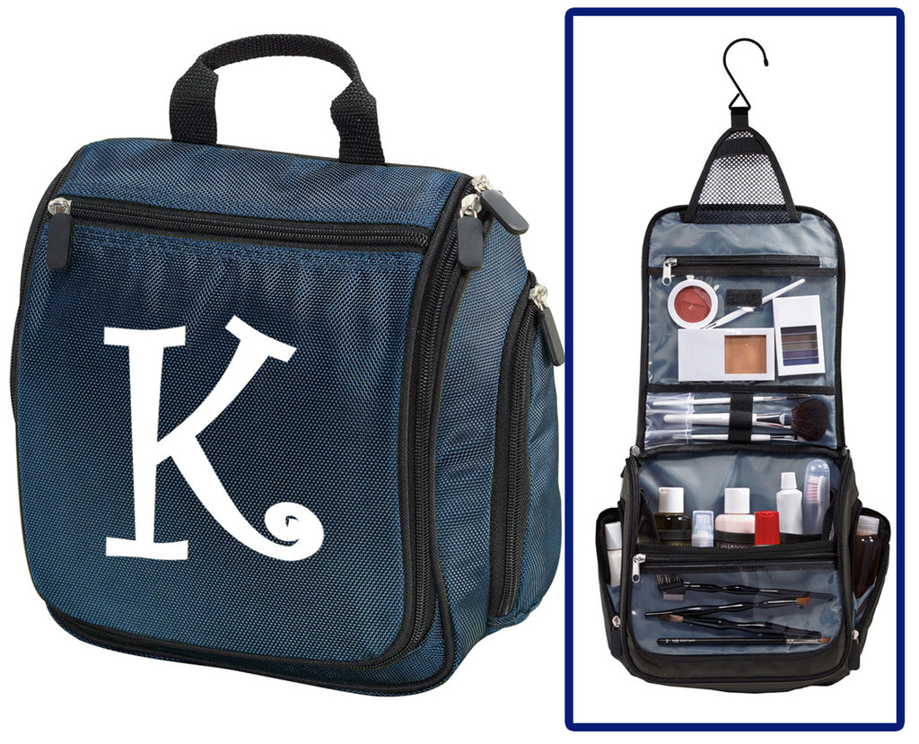 Personalized Toiletry Bag or Monogrammed Shaving Kit for Men NAVY BLUE
