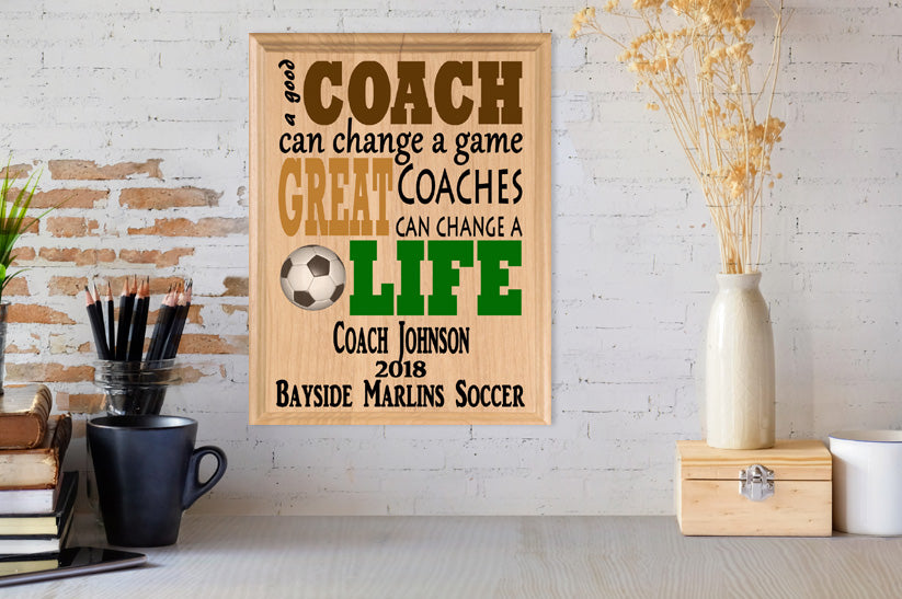 Personalized Soccer Coach Gifts