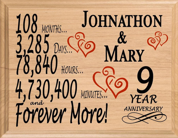 5 Year Anniversary Gift Sign Personalized 5th Wedding Anniversary