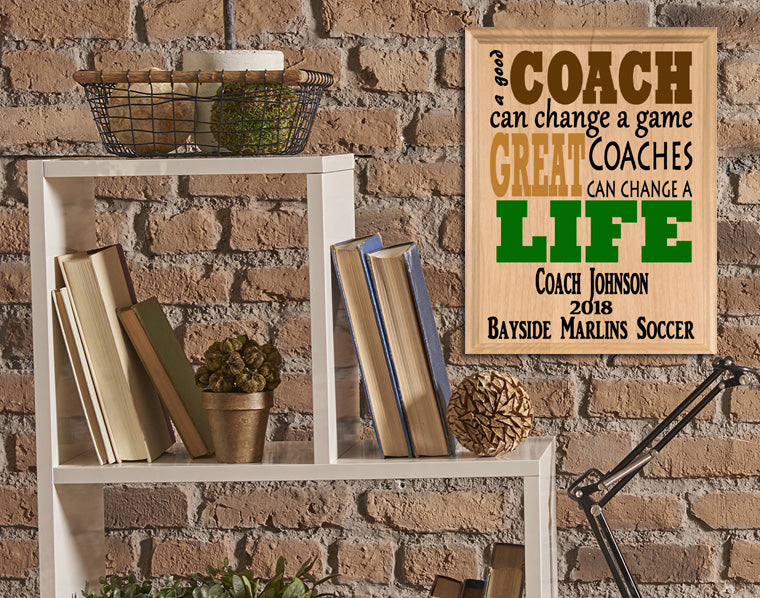 Personalized Coach Gift