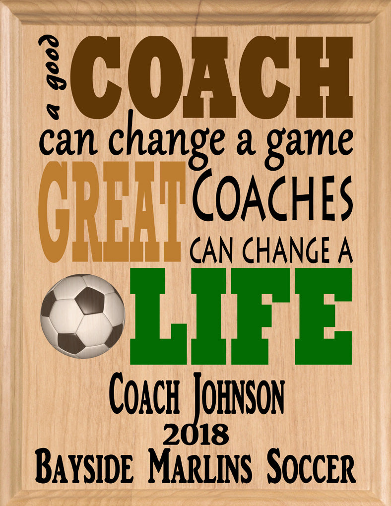 Personalized Great Soccer Coach Gift