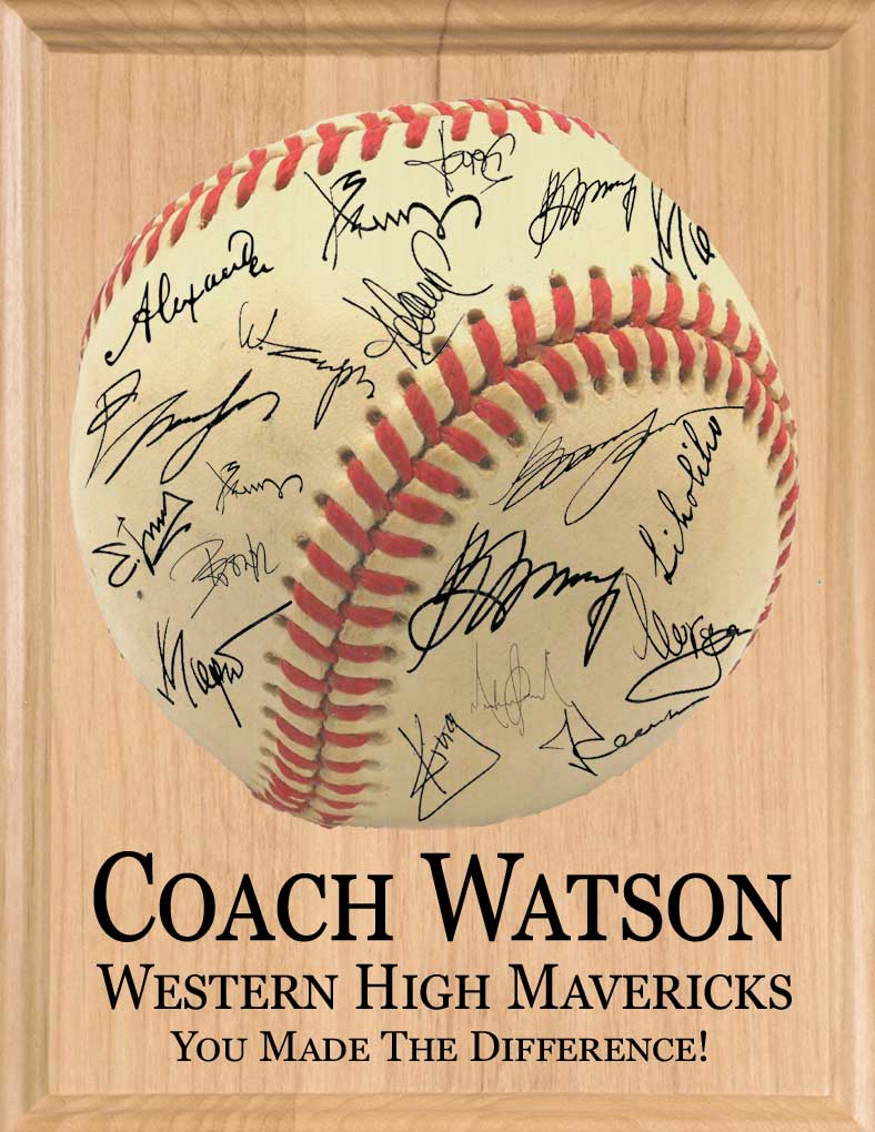Baseball Coach Gift Plaque
