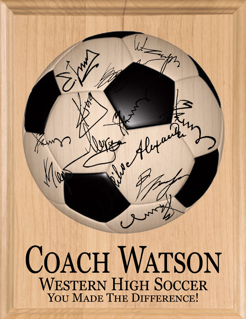 Personalized Soccer Coach Gift SIGNABLE by The TEAM
