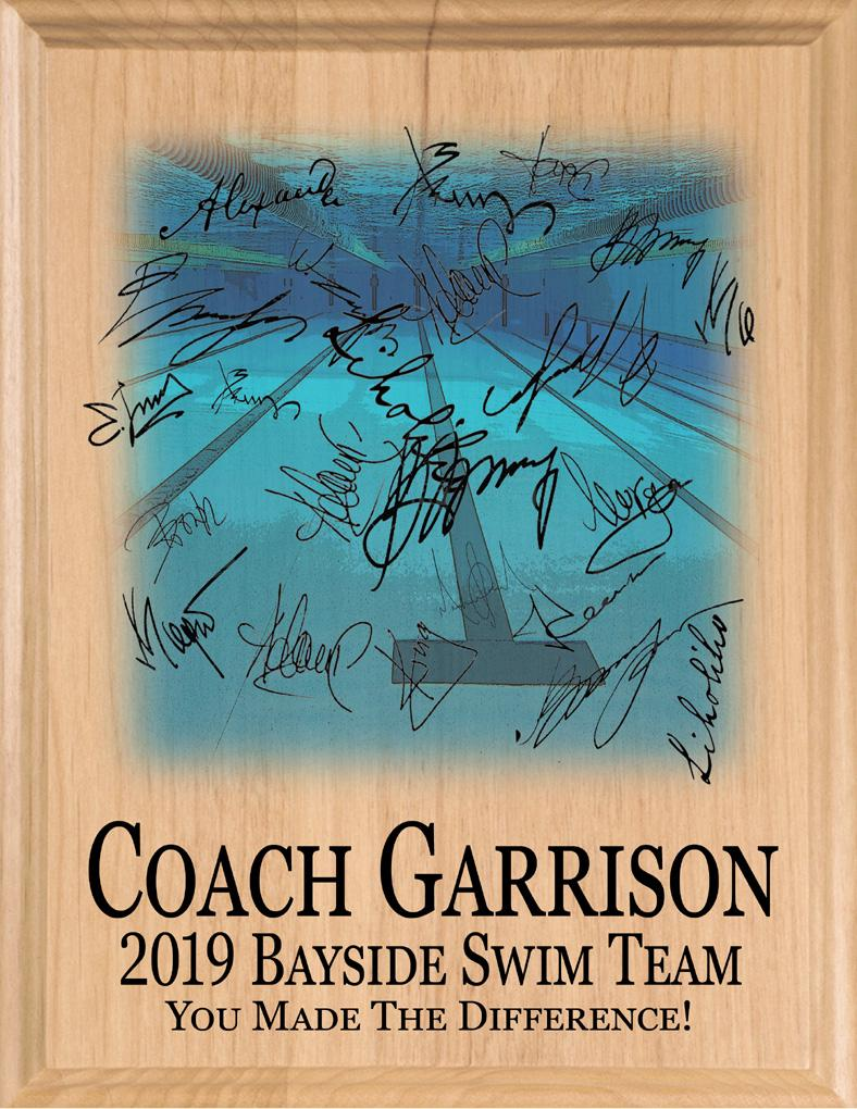 Swim Coach Gift Plaque