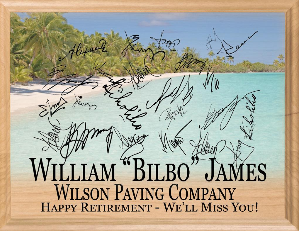 Signable Retirement Gift Plaque