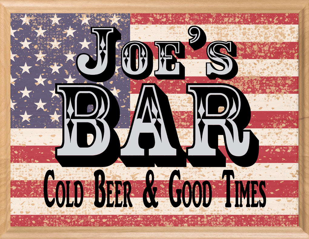 Home Bar Sign PERSONALIZED Man Cave Decor For Men Husband Father Dad