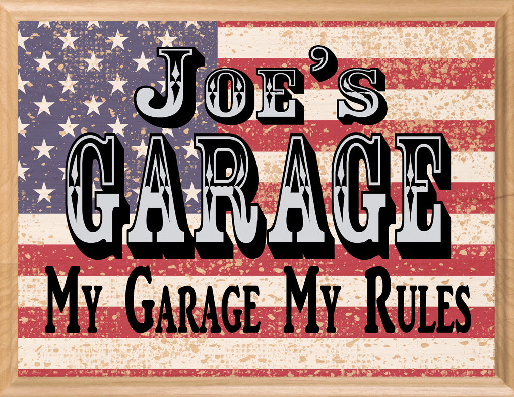 Custom Garage Sign PERSONALIZED Man Cave Decoration For Him Husband Father Dad