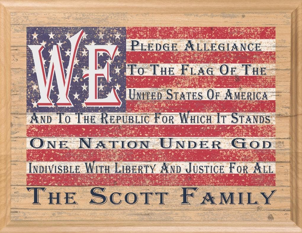 American Flag wood sign