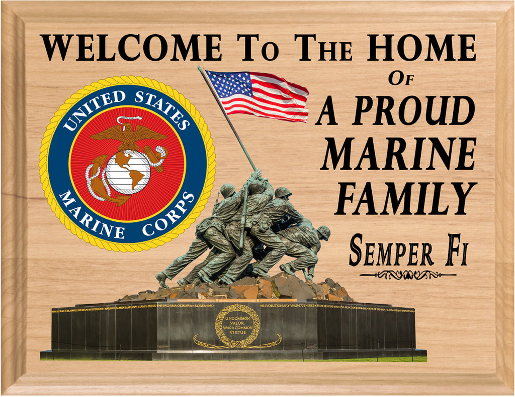 Marine Family Wall Art SIgn