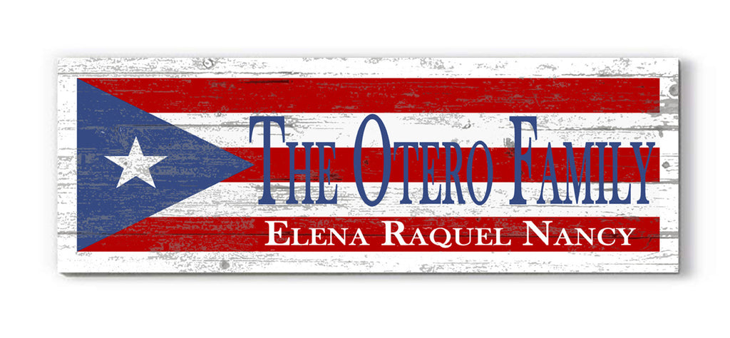 Customized Puerto Rico Flag Family Name Sign Custom Puerto Rican Personalized Rustic Décor for Home, Man Cave, Kitchen, or Wedding Gift