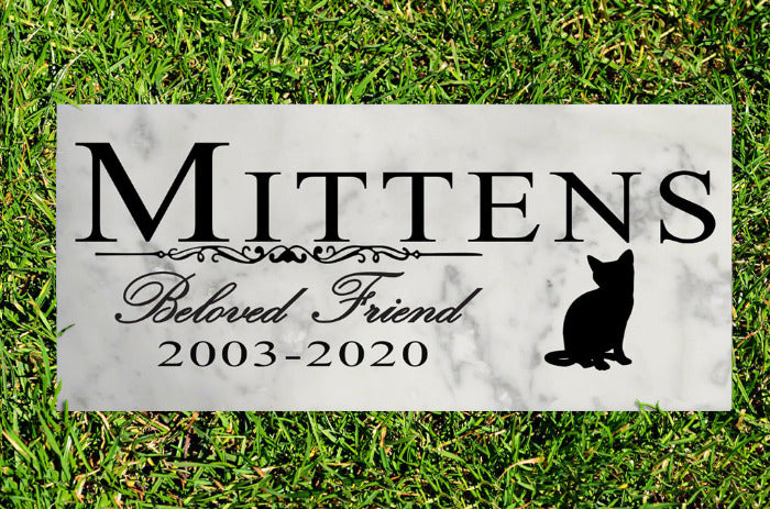 Cat Memorial Stone Personalized Marker Outdoor Garden Select Your Cat Profile Sign Stone Grave Headstone