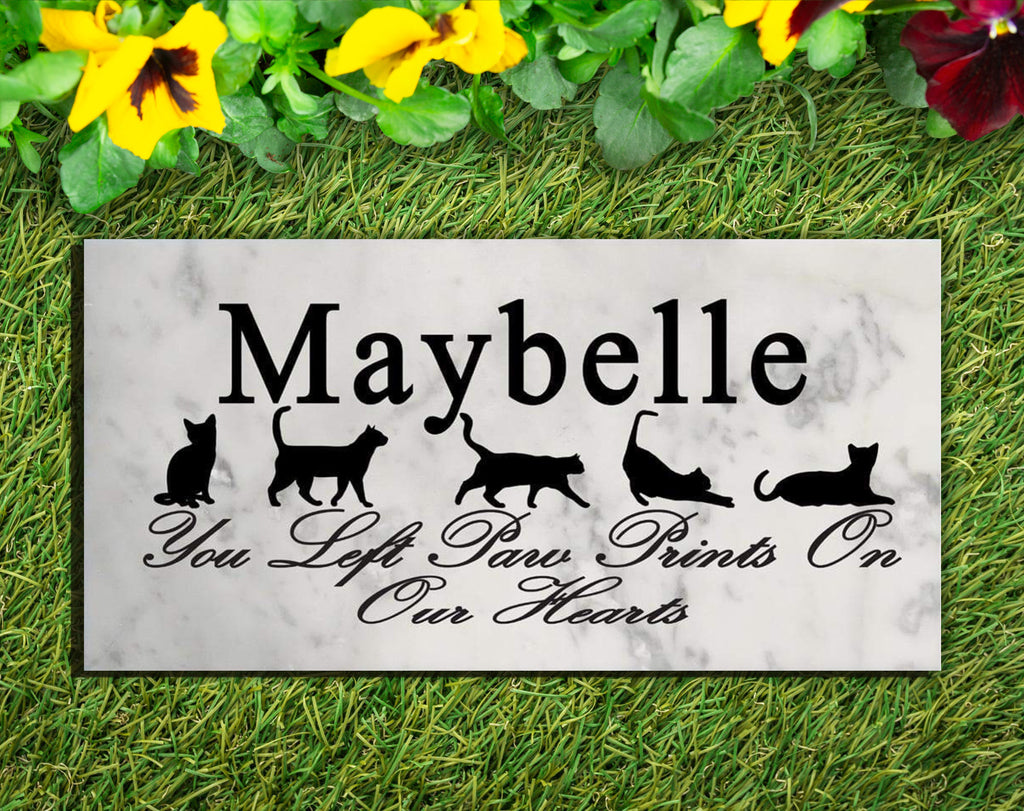 Cat Memorial Stone Personalized Grave Marker Headstone Life of a Cat