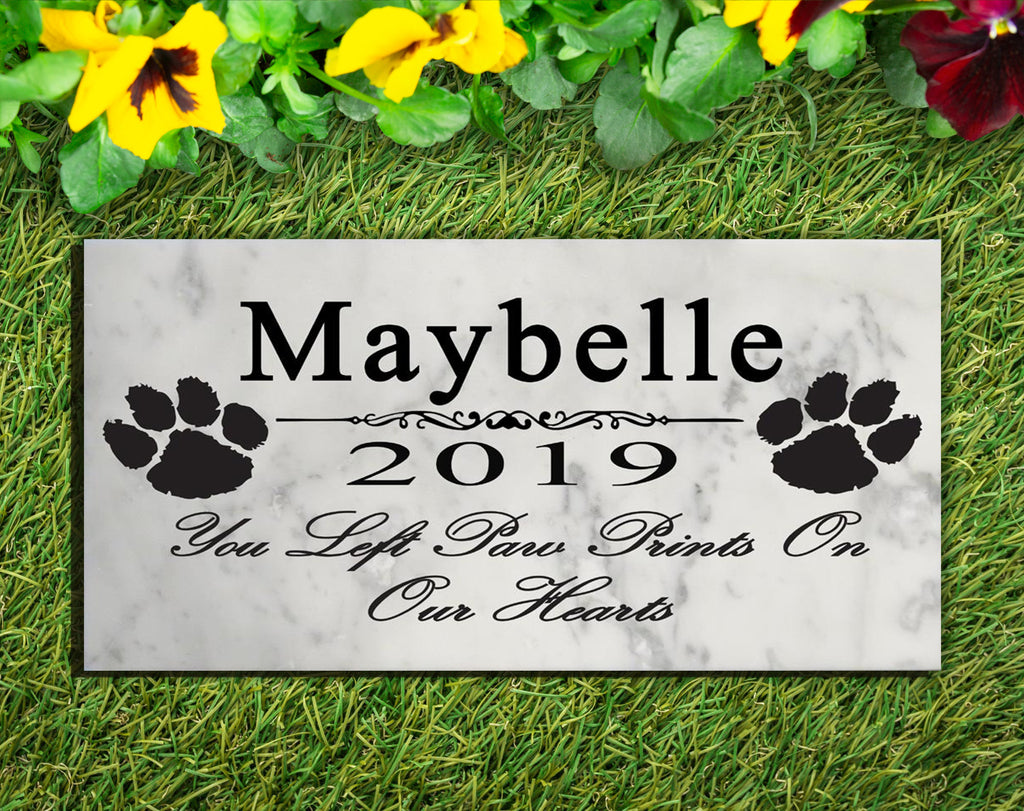 Personalized Dog Memorial Stone Grave Marker or Pet Memorial Plaque