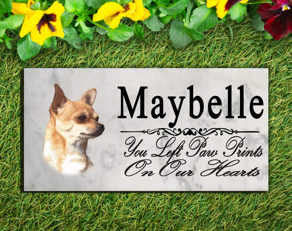 Chihuahua Memorial Stone PERSONALIZED Dog Garden Rock Grave Marker Outdoor or Indoor