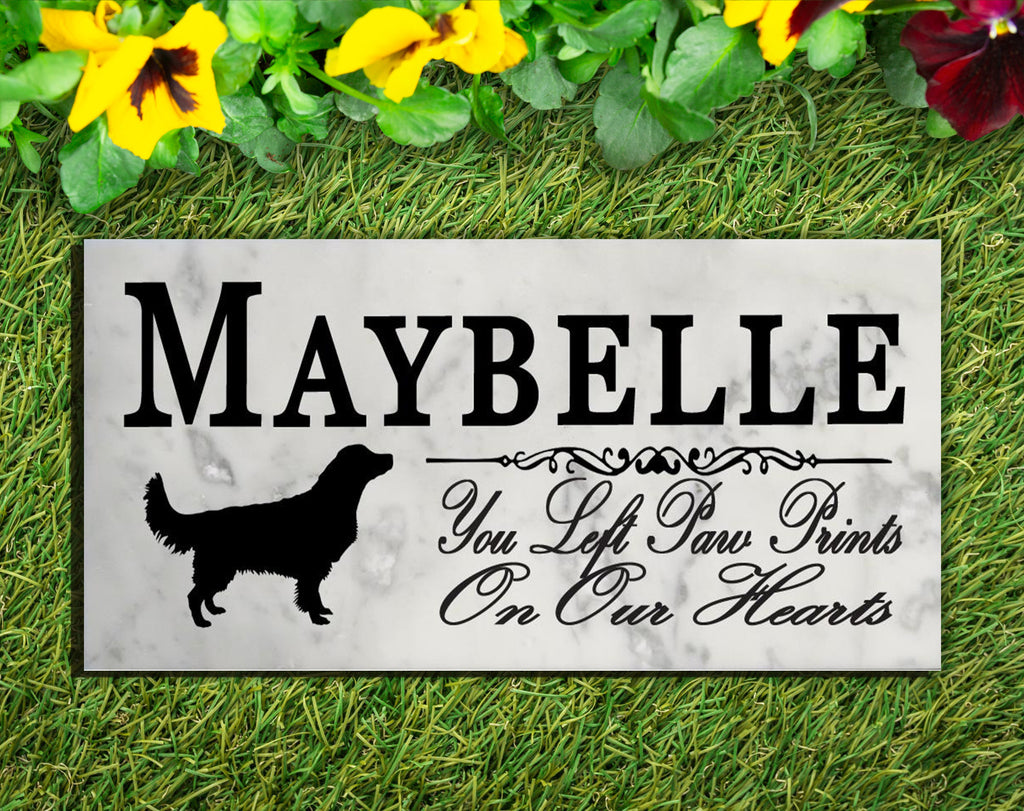 Golden Retriever Memorial Stone PERSONALIZED Dog Garden Rock Grave Marker Outdoor or Indoor