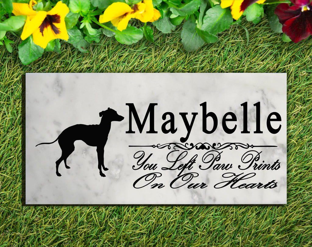 Italian Greyhound Memorial Stone PERSONALIZED Italian Greyhound Dog Garden Rock Grave Marker Outdoor or Indoor
