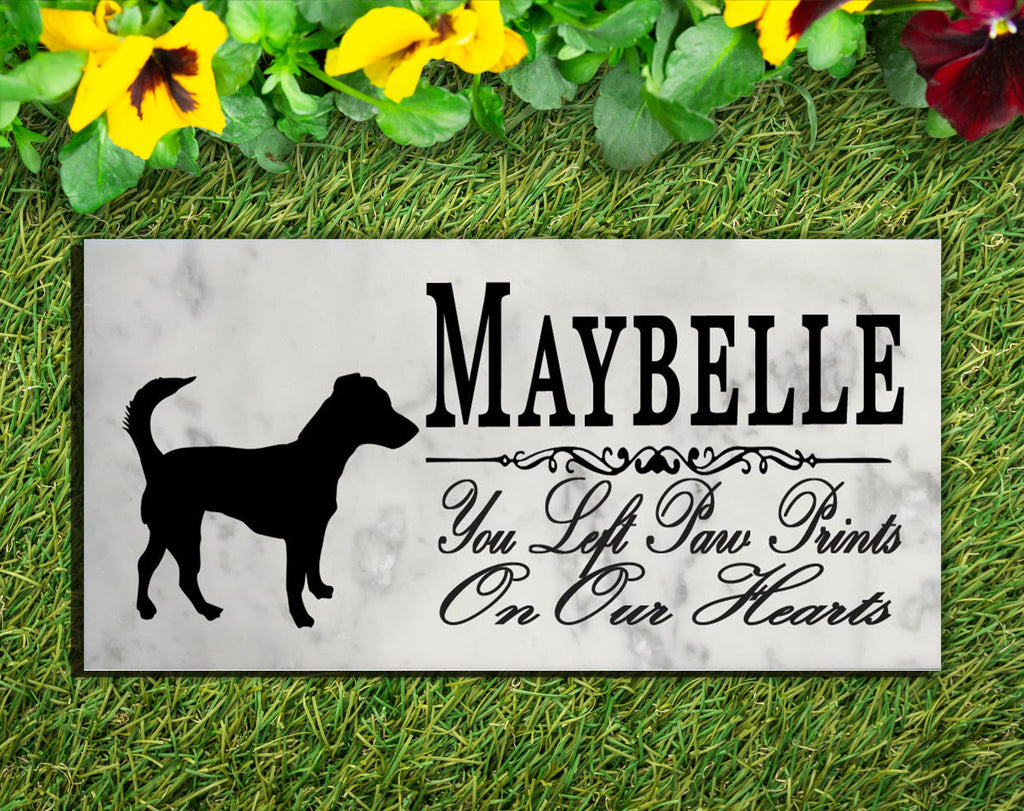 Jack Russel Terrier Memorial Stone PERSONALIZED Jack Russel Terrier Dog Garden Rock Grave Marker Outdoor or Indoor
