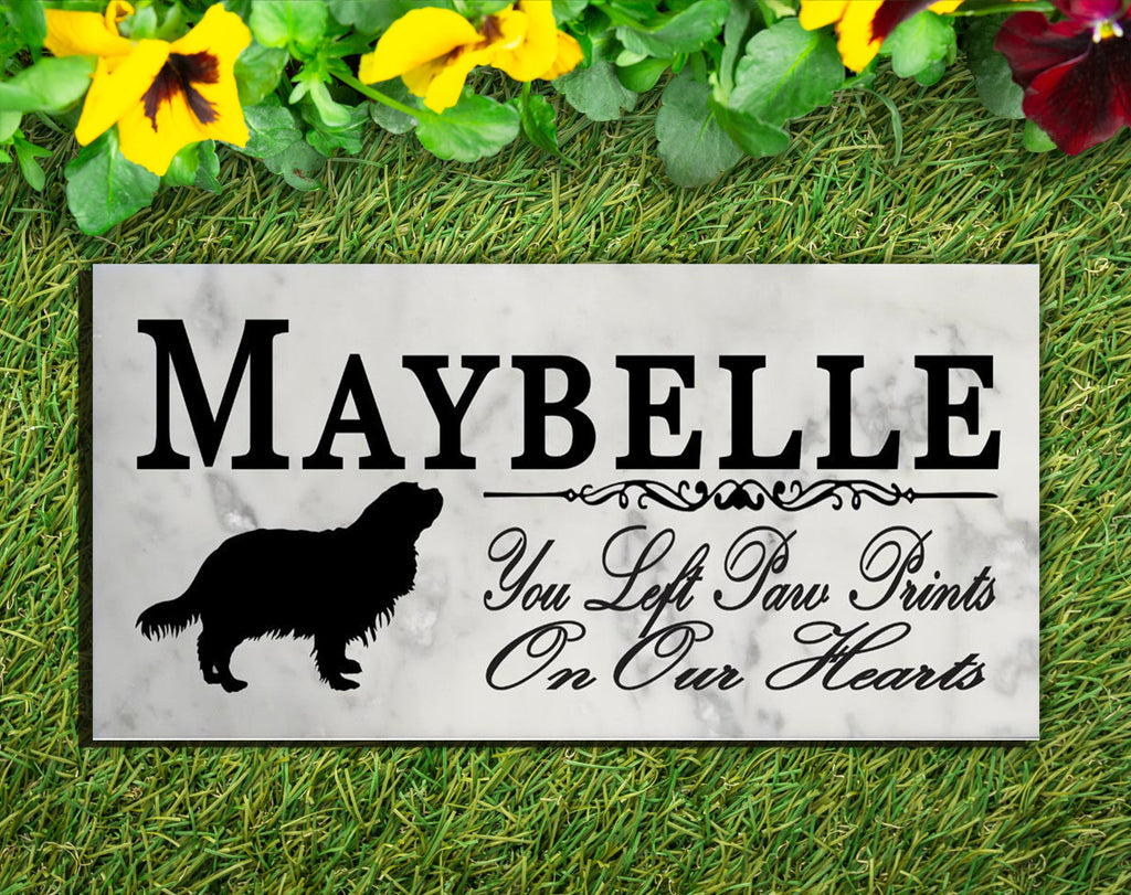 King Charles Spaniel Memorial Stone PERSONALIZED Dog Garden Rock Grave Marker Outdoor or Indoor