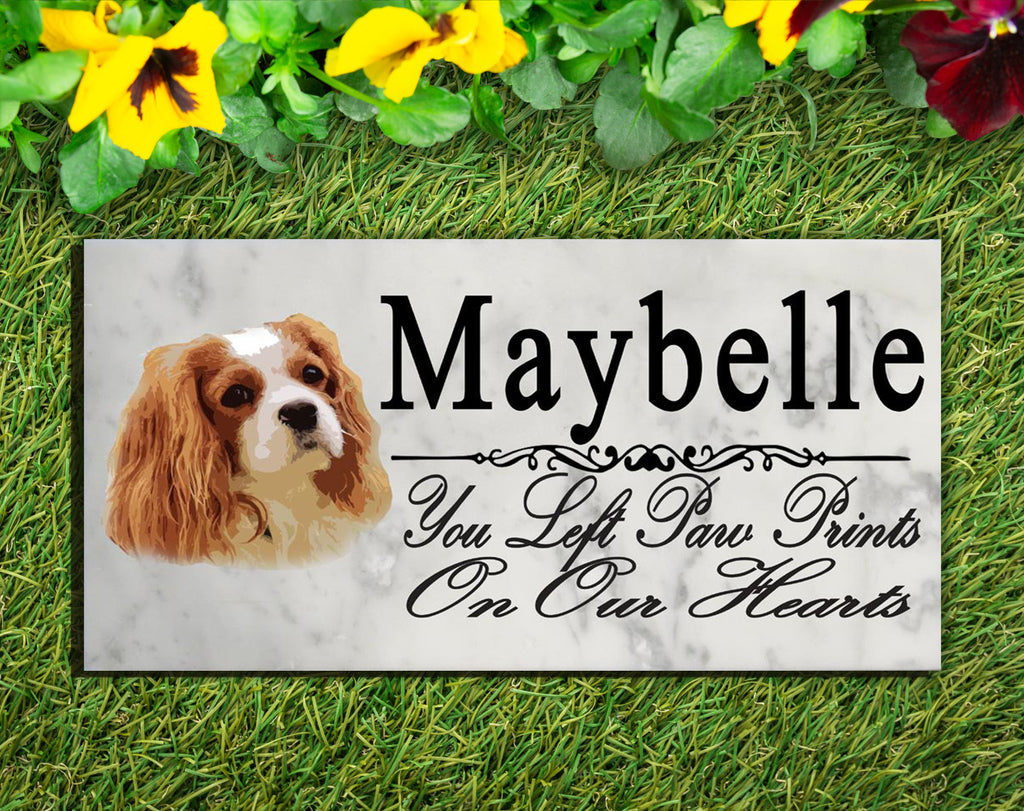 PERSONALIZED King Charles Spaniel Memorial Stone Dog Grave Marker Pet Garden Plaque