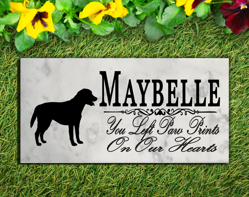 Lab Memorial Stone PERSONALIZED Labrador Dog Garden Rock Grave Marker Outdoor or Indoor